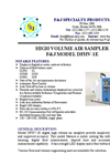F&J - Model DFHV-1E - Digital Flowmeter High Volume Air Sampler - Brochure