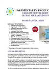 F&J - Model GAS-EDL-300W - Elite Digital Light (EDL) Global Air Sampling System (100 - 120 VAC) - Brochure