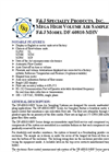 Model DF-60810-MHV Series (110V) MEGA High Volume Air Sampler System Brochure