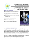 F&J - Model LV-1 - Low Volume Air Sampler - Brochure