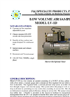 F&J - Model LV-1D - Low Volume Air Sampler (100 - 120 VAC) - Brochure