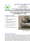 Model LV-1DE (220V) Low Volume Air Sampler Brochure