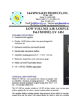F&J - Model LV-14M - Breathing Zone Low Volume Air Sampler (100 - 120 VAC) - Brochure
