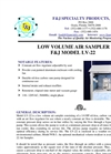 Model LV-22 (110V) Environmental Low Volume Air Sampler Brochure
