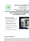 F&J - Model FJ-28B - Low Volume Air Sampler (100 - 120 VAC) - Brochure