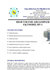 F&J - Model HV-1 - High Volume Air Sampler - Brochure
