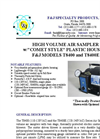 Model T8400 and T8400E High Volume Air Sampler (110V and 220V) Brochure