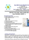 Model DFHV-1 (110V) Digital Flowmeter High Volume Air Sampler Brochure