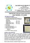 Model TCS-3000 (110V) Tritium Collection System Brochure