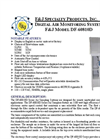 Model DF-60810D (110V) Digital Flow Meter Environmental Air Sampler Brochure