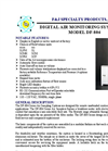 Model DF-804 (110V) Digital Flow Meter Environmental Air Sampler Brochure