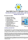 F&J - Model DF-EDL-HP - Elite Digital Light (EDL) Digital Flow Meter Air Sampler (100 - 120 VAC) - Brochure