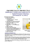 F&J - Model DF-75L-400-Li - Emergency Response Sampling System - Datasheet