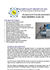 F&J - Model GAS-1E - Global Low Volume Air Sampler (200 - 240 VAC) - Brochure