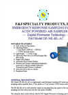 F&J - Model DF-30L-BL-AC - Brushless Emergency Response Sampling System - Brochure