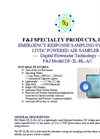F&J - Model DF-2L-BL-AC - Brushless Emergency Response Sampling System - Brochure