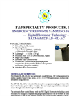 F&J - Model DF-AB-40L-AC - Emergency Response Sampling System - Brochure