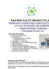 F&J - Model DF-40L-AC - Emergency Response Sampling System - Brochure
