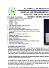 F&J DF-804-30-NOV High Volume Enzyme Dust Air Sampling Systems - Brochure