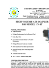 F&J - Model HV-1T - High Volume Air Sampler - Brochure