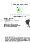 F&J - Model HV-1TE - High Volume Air Sampler - Brochure