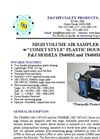 F&J - Model T8400M and T8400ME - High Volume Air Samplers - Brochure