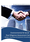 Environmental & Social Due Diligence Assessment Services Brochure 2015