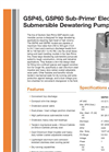 Sub-Prime - GSP45/GSP60 - Electric Submersible Dewatering Pumps Brochure