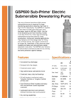 Sub-Prime - GSP600 - Electric Submersible Dewatering Pumps Brochure