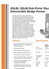 Sub-Prime - GSL60/GSL80 - Electric Submersible Sludge Pumps Brochure