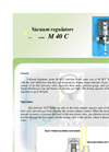Model M 40 C - Vacuum Regulators Brochure