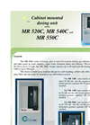 Model MR 520C, MR 540C and MR 550C - Cabinet Mounted Dosing Unit Brochure