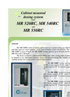 Model Series MR 520RC, MR 540RC and MR 550RC - Cabinet Mounted Dosing System Brochure