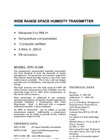 Model HTC-598 - Space Humidity Transmitters Brochure