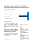 Model HTC-D-420 - Duct Humidity Transmitters Brochure