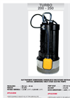 TURBO - Model 200 - 250 - Vertical Submersible Multi Stage Electric Pumps Brochure
