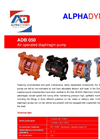 Model ADB050 - Air Operated Diaphragm Pumps- Brochure