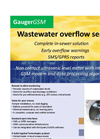 GaugerGSM - Remote Sewer Level Monitoring Data Sheet