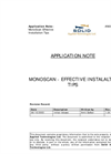 MonoScan - Effective Installation Tips Application Note