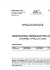 Configuring Monoscan For Open Channel Applications Note