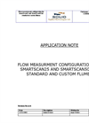 Flow Measurment Configuration For Smartscan25 And Smartscan50 For Standard And Custom Flumes Application Note