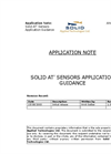 Solid At` Sensors Application Guidance Application Note