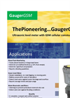 GaugerGSM - Ultrasonic Level Sensor Brochure