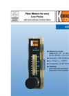 Model KSV - Plastic Low Flow Variable Area Flowmeter Brochure