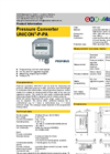 UNICON - Model P-PA - Pressure Converter Brochure