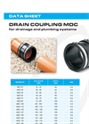 Model MDC - Drain Couplings - Brochure