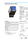 Model ST/NR Series - Electrode Level Relay  Brochure