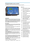 Model PGS-P Series - Programmable Pump Control Devices Brochure