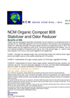NCM - Organic Compost 908 Stabilizer and Odor Reducer - Brochure