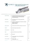 Model HLZ MD Ultra Glass - Industrial High-Speed Counting and Sorting Machine Brochure
